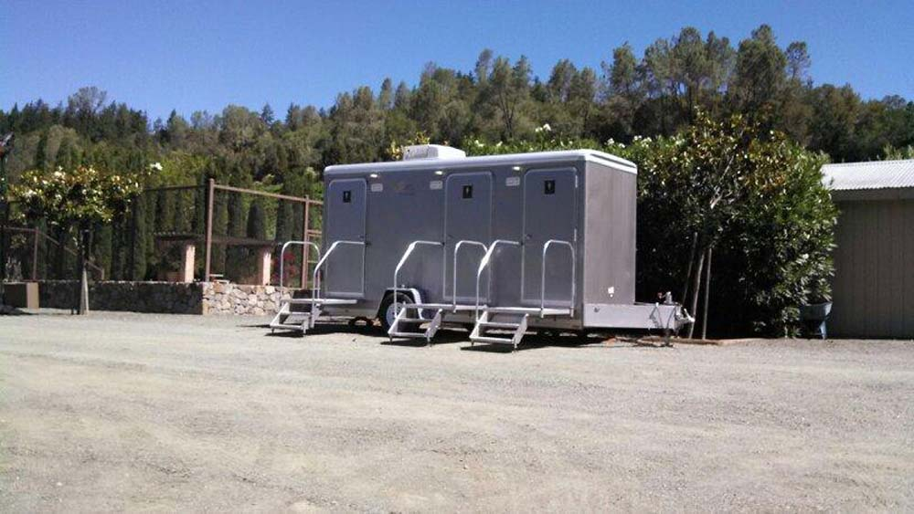 Three Stall Restroom Trailer Royal Restrooms California
