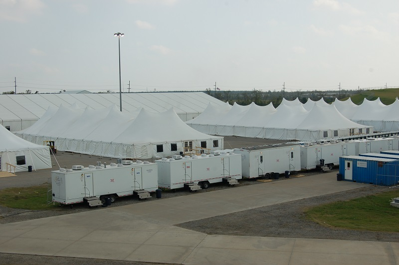 portable restrooms and portable showers for emergency response disaster relief