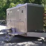 2 Stall Restroom Trailer - Platinum